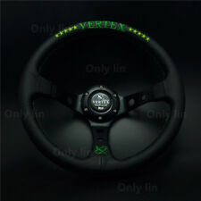 320mm Vertex Leather Sport Car Steering Wheel Deep Dish OMP MOMO Rally Racing
