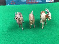 Vintage Britains Lead Farm. 3 X Goats. 1/32 Scale.