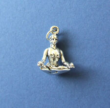 YOGA LOTUS POSITION 3D CHARM 925 STERLING SILVER