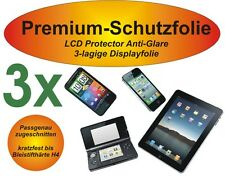 "3x Premium-Schutzfolie Matt Apple iPhone 6 (4,7"") 3-lagig Antireflex Antiglare"