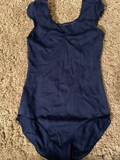 Leos Gymnastics Leotard Junior Medium Navy Blue Wide Strap Dance