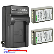 Kastar Battery AC Wall Charger for Olympus BLS-5 & Olympus E-PM2 EPM2 Camera
