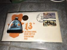 JIM BEAM 13th International Bottle CONVENTION Saint Louis w Stamp Enve FREE SHIP