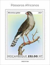 Mozambique 2021 MNH African Birds on Stamps Gabar Goshawk Raptors 1v S/S IV