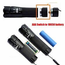 Aluminum Alloy Extender Extension Tube Ring 18650 Battery Zoom Light Flashlight