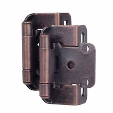 "Lot of 25 Pairs 50pcs Self Closing OVERLAY 1/2"" Cabinet Hinge-Oil Brushed Bronze"