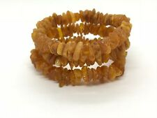 Lot 3 Natural Baltic Amber Raw rough unpolished healing bracelet set 31 g #2800