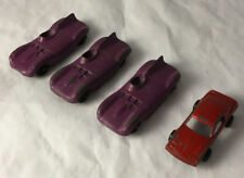 Lot of 4 Tootsietoy Diecast Toy Cars - Jaguar & Firebird