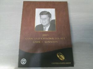 2015 US Mint John F Kennedy Coin and Chronicles Set