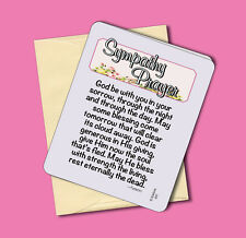 """Sympathy Prayer"" - Breavement Greeting Card - Blank Inside - Sku# 641"