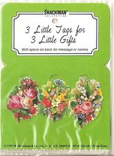 (6 Pkgs) Floral Bouquet Christmas Gift Tags Mint Shackman We Ship Worldwide