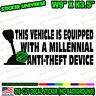 Millennial Anti Theft Stick Shift Funny Car Decal Bumper Sticker Racing JDM 0756