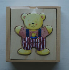 NEW Goki Bears Wooden Dress-Up Box Puzzle