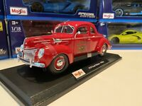 Maisto 1:18 Scale Diecast Car - 1939 Ford Deluxe - Police Fire Chief. New!!