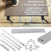 300-600mm Aluminium Alloy T-track/T-Slot Slider Set Carpenter Woodworking Tool