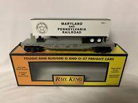 ✅MTH RAILKING MARYLAND PENNSYLVANIA FLAT CAR W/ TRAILER 30-76025! O GAUGE TRAIN