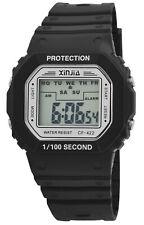 Digitaluhr Stoppuhr Uhr Sportuhr Sport Xinjia Herren Digital Schwarz Stoppen