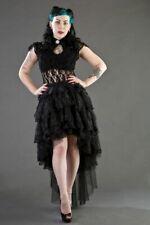 Burleska Steampunk Gothic Black Lace Dita Top Size S 8 BNWT