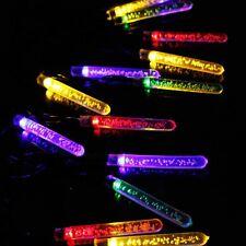 20x Icicle BUBBLE multi-colore a LED energia solare stringa luci giardino pensile