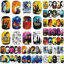 12 sheets beauty Halloween water transfer nail art sticker decal decoration tool