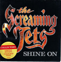 """THE SCREAMING JETS  Shine On PICTURE SLEEVE RED VINYL 7"""" 45 rpm record RARE!"""