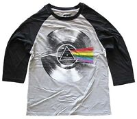 Pink Floyd Record Dark Side of the Moon Men's Raglan Baseball Shirt New