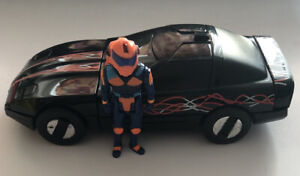 Kenner MASK Raven CALHOUN BURNS figure & Corvette M.A.S.K no box or discs