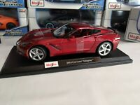 Maisto 1:18 Scale Diecast Model Car - 2014 Corvette Stingray Metallic Red NIB SE