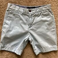 "Tommy Hilfiger Classic 8"" Inseam Flat Front Casual Shorts Sky Blue MEN'S SIZE 32"