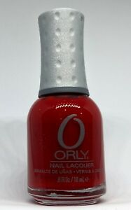 Orly Nail Polish RED CARPET 40634 Vivid Cherry Red w Micro Glitter Lacquer