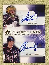 2008-09 SP Authentic STEVE MASON & BRASSARD Sign Times Autograph Blue Jackets