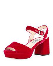 e9c18534943 PRADA Velvet Platform 65mm Sandals Size 35.5