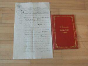 König Friedrich-Wilhelm IV, Originalunterschrift a. Bef. urkunde Major, von 1857