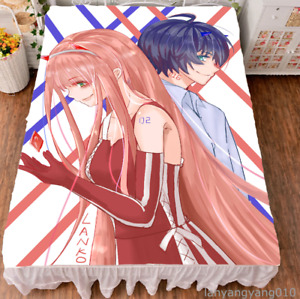 Anime DARLING in the FRANXX Bed Sheet Soft Flannel Blanket Bedclothes 150X200CM