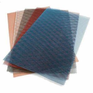 grille alu protege protection de radiateur universelle moto 20x33.5 GRIS ARGENT