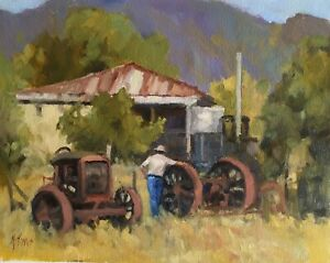 'THE OLD WORKHORSES' Original Oil Painting by Award Winning Artist ROS PSAKIS