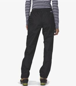 Patagonia Women's H2no Torrentshell Black Rain Wet Pants Size XXS 100% Nylon