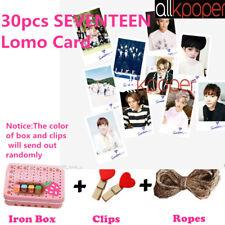 30pcs Kpop Seventeen Lomo Card Photocards Vernon Wonwoo Pictrue Postcard