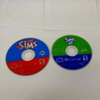 🔥The Sims + The Sims 2 - Nintendo GameCube / Wii - TESTED Bundle Lot Discs Only