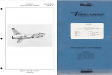 Vought XF8U-3 Crusader III 1950's 1960's Technical Manual & Test Report Archive