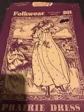 Vintage Folkwear Sewing Pattern 201 Prairie Dress Featherstiched Apron '78 uncut