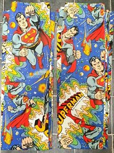 USED VINTAGE 1979 DC COMICS SUPERMAN CURTAIN IN MINT CONDITION