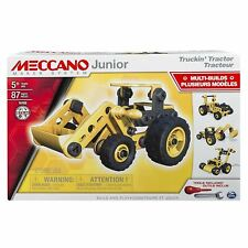 Meccano Junior Truckin' Tractor Easy to Build 4 Model Building Set Boys Toy
