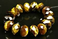 Chatoyant Golden Tiger Eye Faceted Rondelle - 8mm x 5.5mm ~ 16 beads ~ 8173A