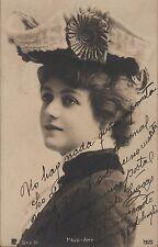 AGAPITO CUEVAS - Spanish Actor - Orig. Vintage Handsigned on a Postcard - 1900