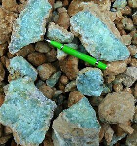 Prehnit Rohsteine 1 kg aus Namibia (Natur!)