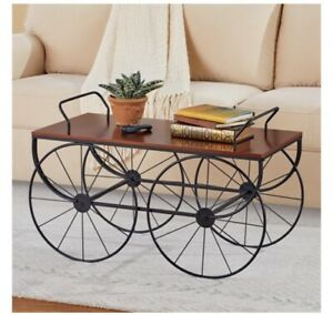 Wagon Shaped Coffee Table With Walnut Finish (col) D15