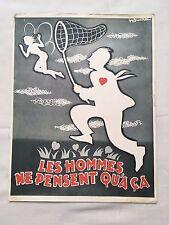 LES HOMMES NE PENSENT QU'A CA - Y. ROBERT - DE FUNES - BROCHURE PRESENTATION
