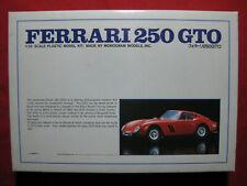 Ferrari 250 GTO 1/25 Vintage 1978 Bandai Monogram Plastic Model Kit Car Rare