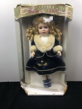Nib Brass Key Victorian Pearls & Lace Special Edition Genuine Porcelain Doll 16""